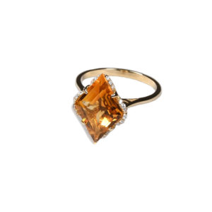 Zacharias Galanis Citrine Fancy Cut Ring