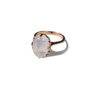 Zacharias Galanis Moonstone Rose Gold Ring