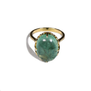 Zacharias Galanis Olive Green Tourmaline Ring