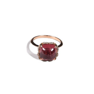 Zacharias Galanis Pink Square Tourmaline Ring