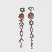 dolly Boucoyannis - Golden Pebble and Diamond Earrings