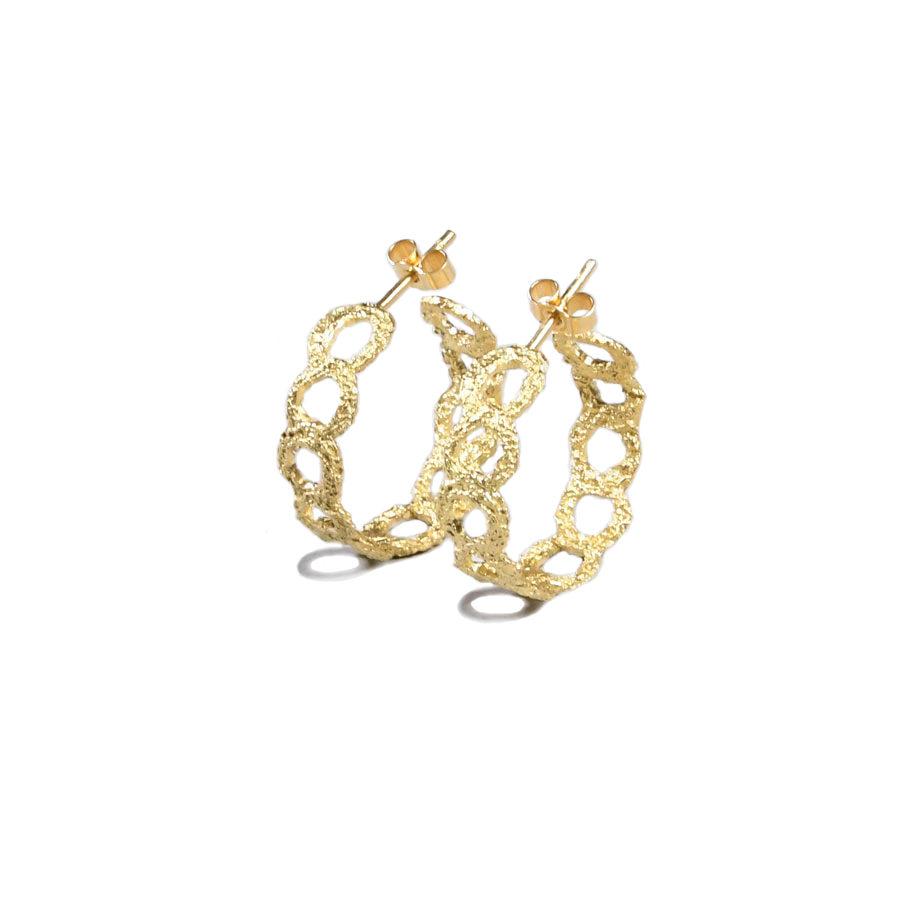 Αlexandra Jacoumis Crown Hoops Earrings