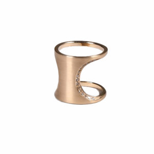 Polina Ellis Dorian Brown Diamonds Golden Ring