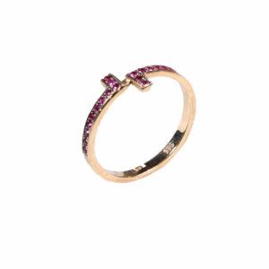 Polina Ellis Antithesis Chevaliere Rubies Ring