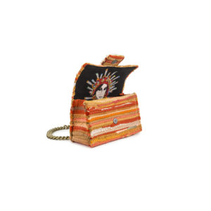 Kooreloo New Yorker Soho Fabric Orange Shoulder Bag