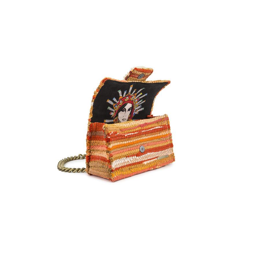 Kooreloo New Yorker Soho Fabric Orange Shoulder Bag
