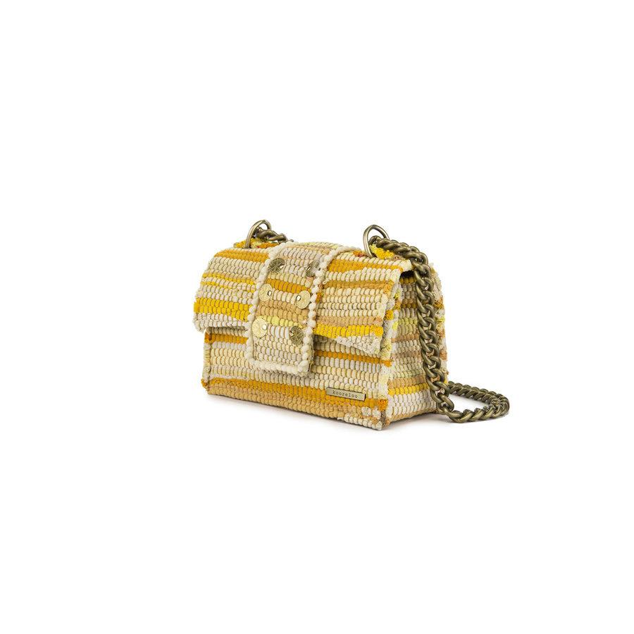 Kooreloo New Yorker Soho Fabric Yellow Shoulder Bag