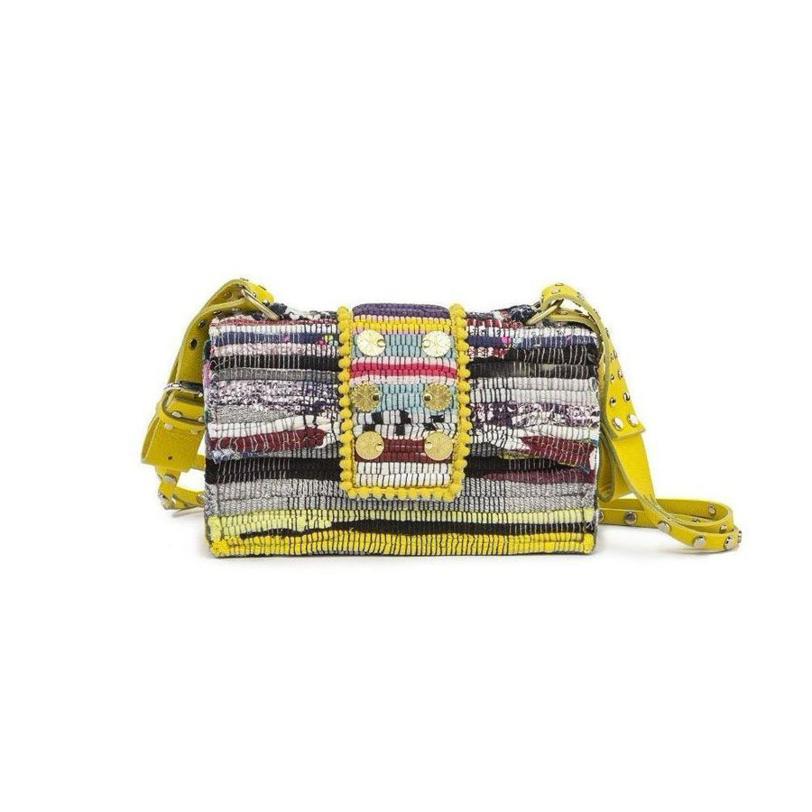 Kooreloo New Yorker Soho Multi studs Yellow Shoulder Bag