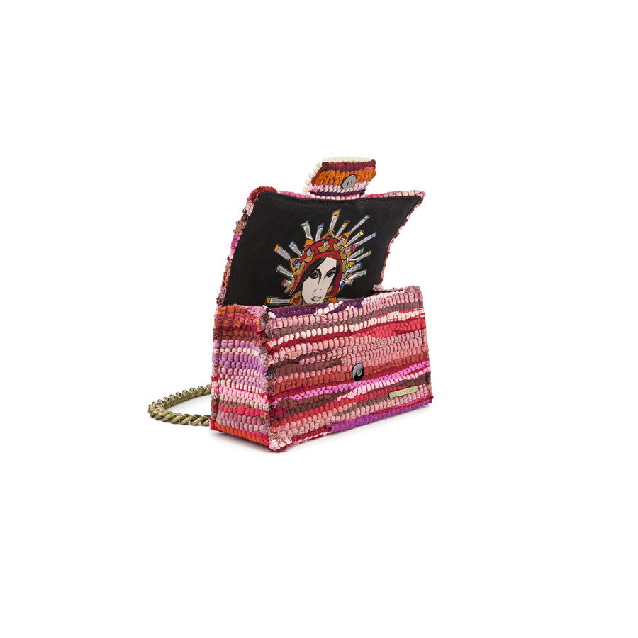 New Yorker Soho Fabric Fuchsia Shoulder Bag