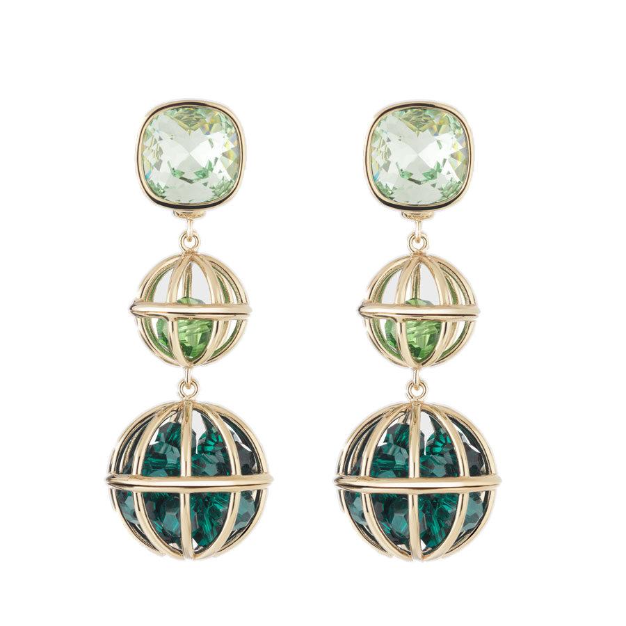 c154d86530c08 Atelier Swarovski Nostalgia Double Drop Earrings · Ateier Swarovski by Mary  Katrantzou ...