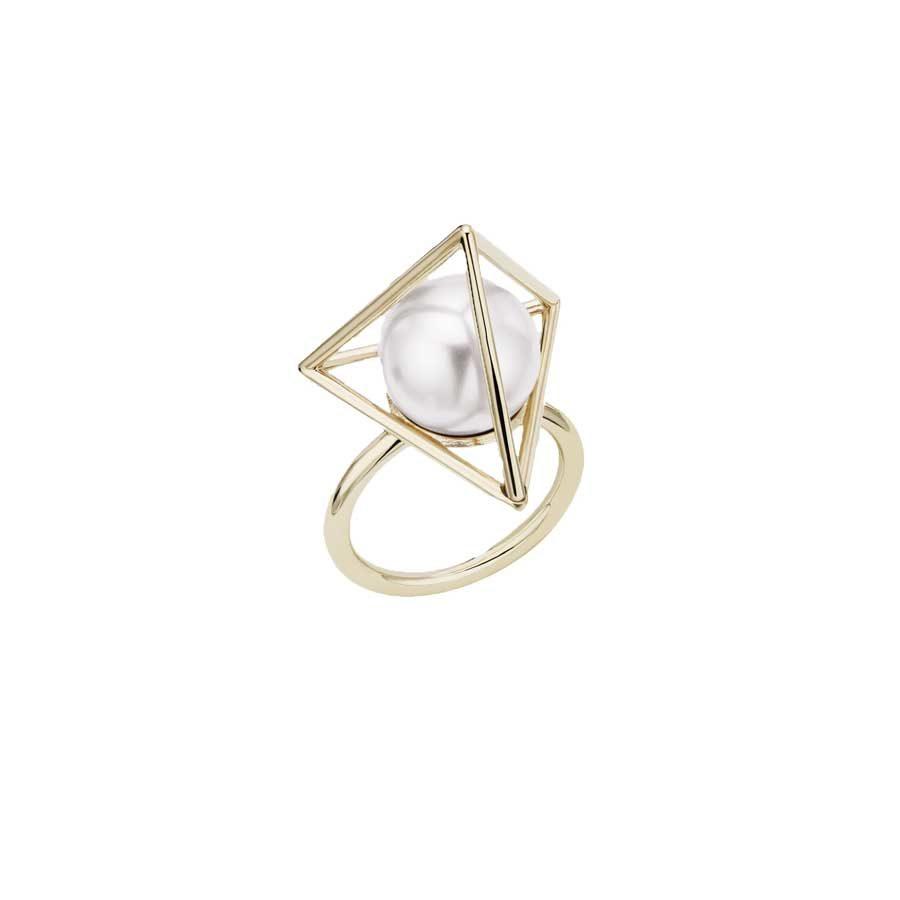 Atelier Swarovski Nostalgia White Pearl Ring