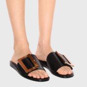 Boyy – Embellished Leather Black Sandals (3)