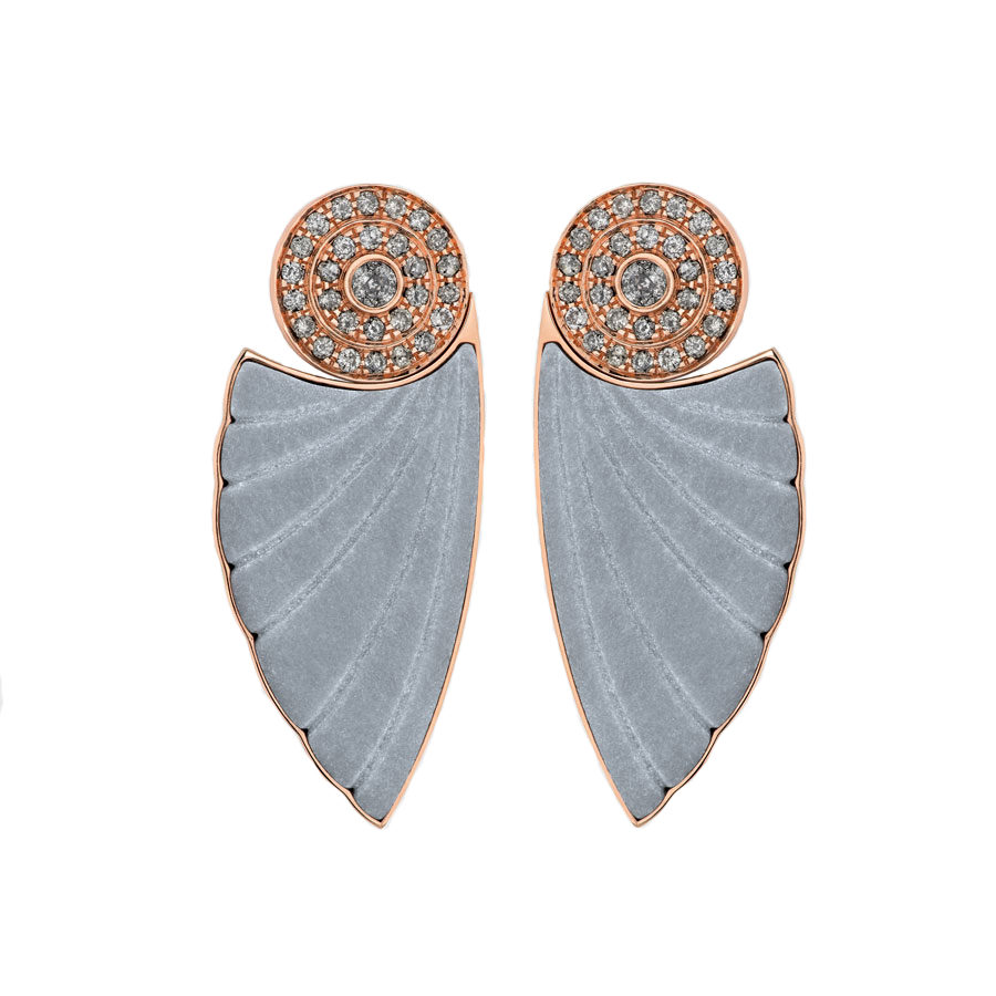 Ioanna Souflia Adoucissement Marble Rose Gold Earrings