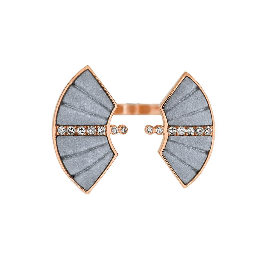 Ioanna Souflia Adoucissement Marble Rose Gold Ring