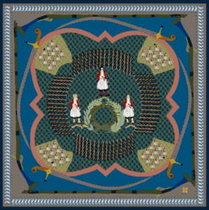 Kridemnon - Bataille Silk Scarf