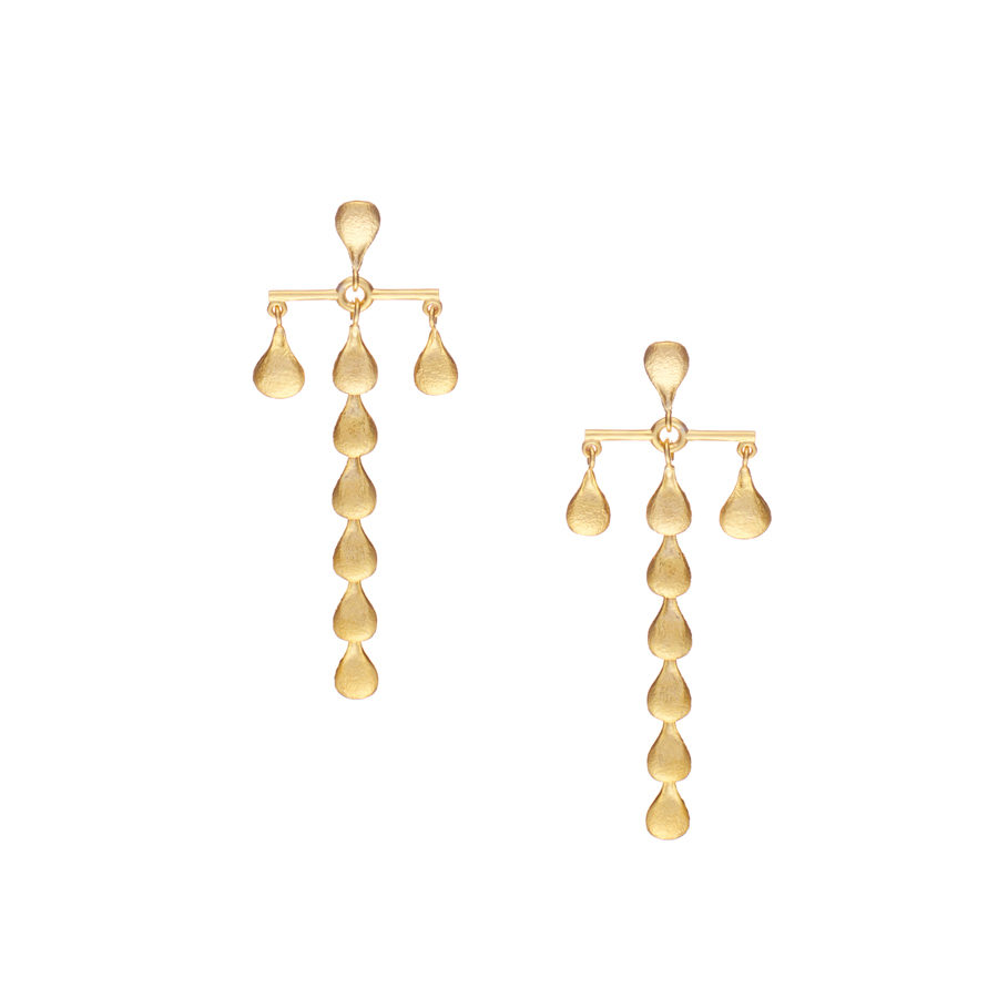 Sophia Kokosalaki Linear B Handcrafted T Bar Earrings