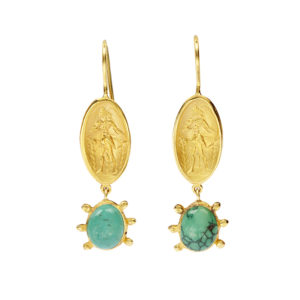 Danai Giannelli Dimitra earrings gold