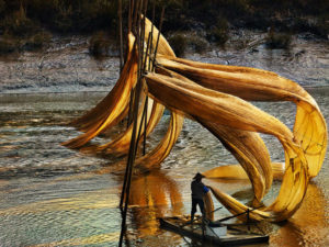 Floating nets Thierry Bornier 80X60
