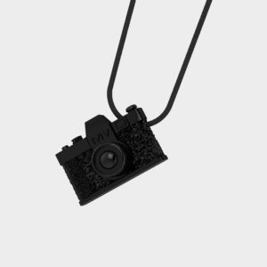 Marina Vernicos Black Plated Camera Necklace