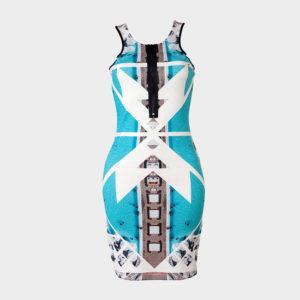 Marina Vernicos Porto Heli Front Zipper Dress