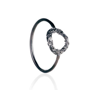 Alexandra Jacoumis Black Circle Ring Side
