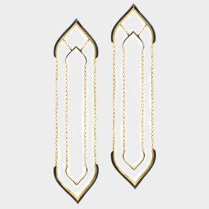Maggoosh Blue Lotus Worship Earrings