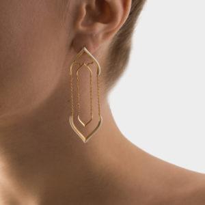Maggoosh Offwhite Lotus Worship Earrings