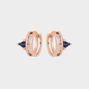 Ioanna Souflia Blueprints Rose Gold Earrings