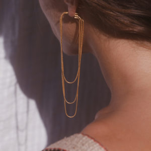 Maggoosh Nighttime Snake Chain Earrings