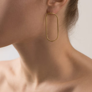 Maggoosh Gold Halo Medium Earrings