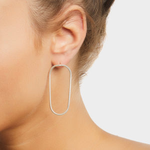 Maggoosh Silver Halo Medium Earrings