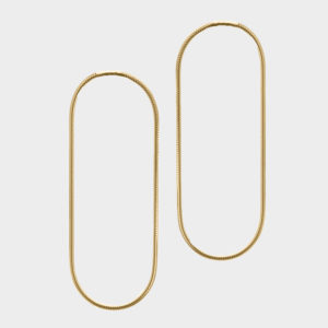 Gold Halo Extra Large Earrings