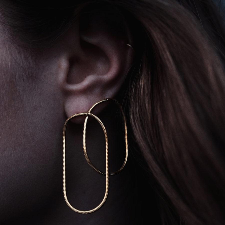 Maggoosh Silver Halo Small Earrings