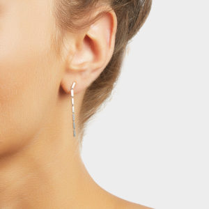 Maggoosh Silver Disco Single Short Earrings