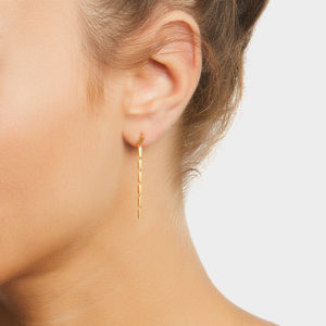 Maggoosh Gold Disco Single Short Earrings
