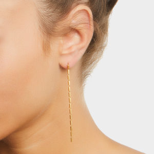Maggoosh Gold Disco Single Long Earrings