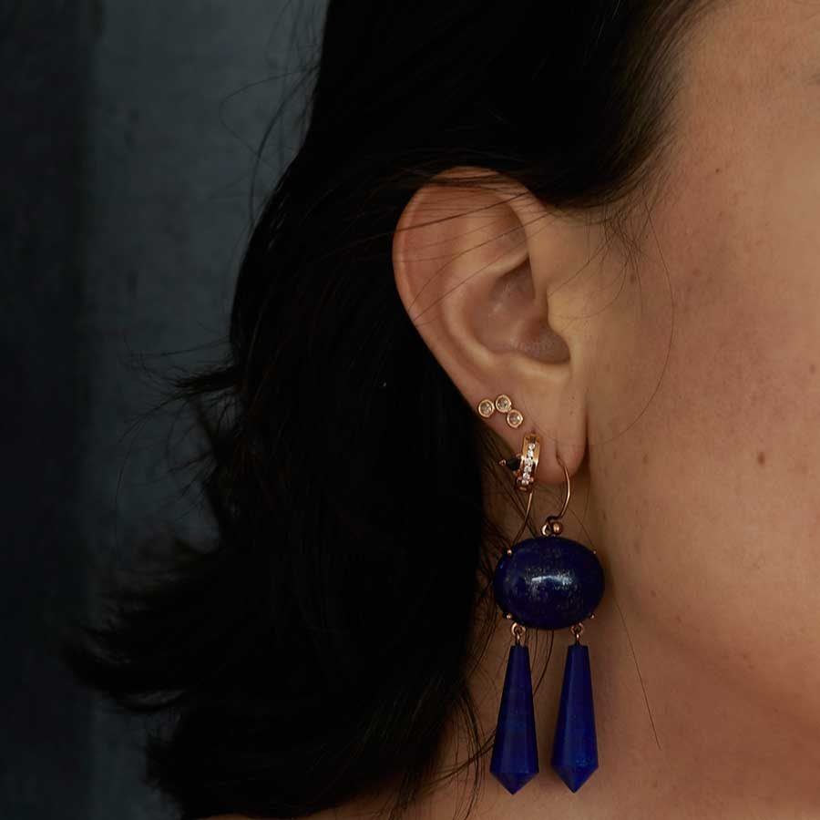 Ioanna Souflia Blueprints Rose Gold Earrings