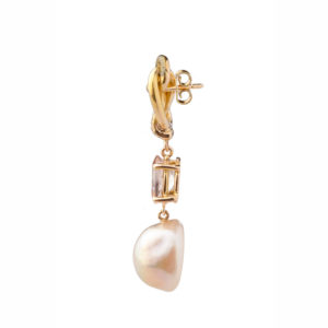 Dolly Boucoyannis Pearl Diamonds Tourmaline Earrings DBE107