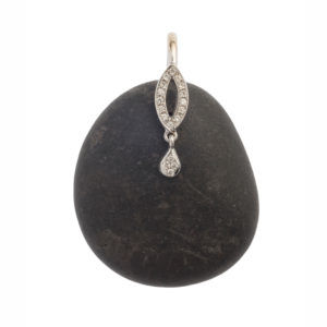Dolly Boucoyannis White Gold Pebble Pendant DBP76