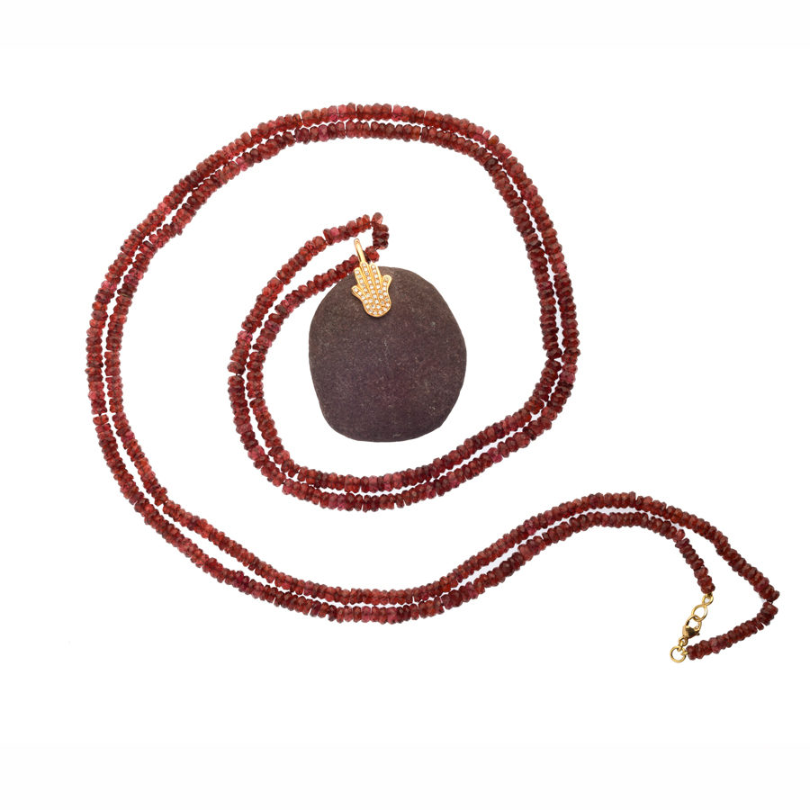 Dolly Boucoyannis Semi-Precious Beads Garnet Necklace DBN 51