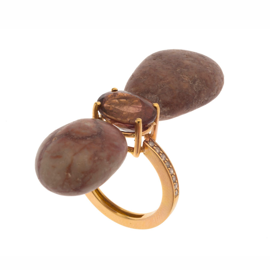 Dolly Boucoyannis Pebble and Tourmaline Ring DBR57