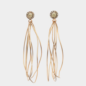 Dolly Boucoyannis Whirling Wires Pink Gold Diamond Earrings DBE161