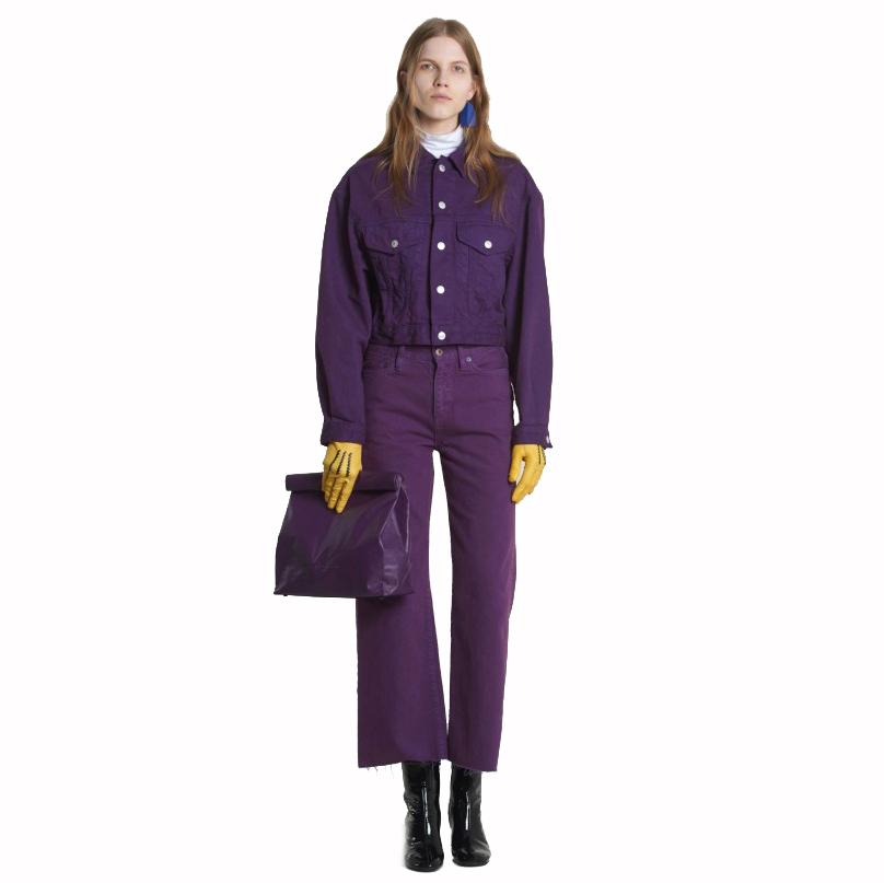 Simon Miller Lunchbag 30 cm Royal Purple on Model
