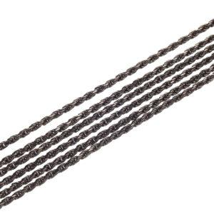 Oxidized Silver Sixfold Chain 50 cm