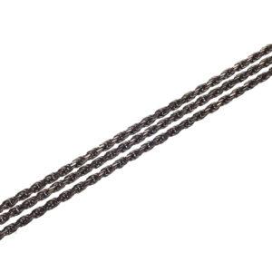 Oxidized Triple Silver Chain 90 cm