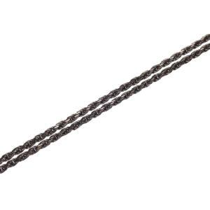 Oxidized Silver Double Chain 90cm