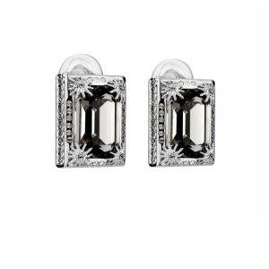 Atelier Swarovski Black Diamond Calypso Clip Earrings