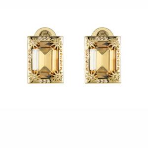 Atelier Swarovski Golden Shadow Calypso Clip Earrings
