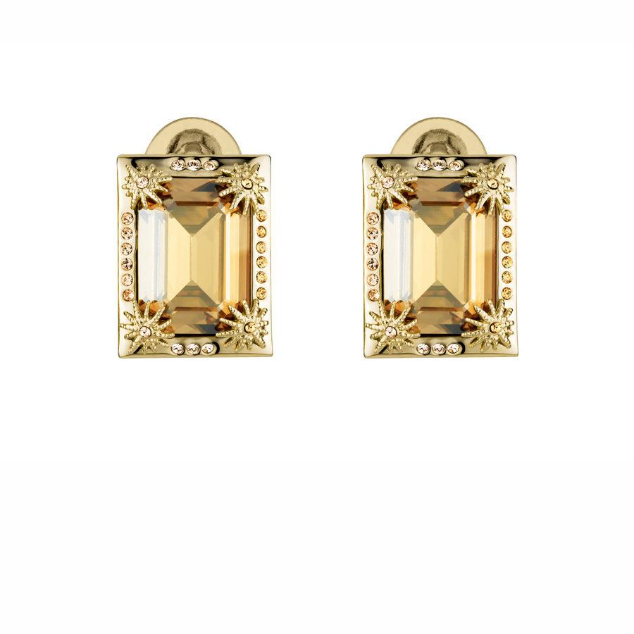 Golden Shadow Calypso Clip Earrings
