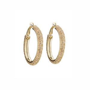 Atelier Swarovski Golden Shadow Calypso Hoop Earrings